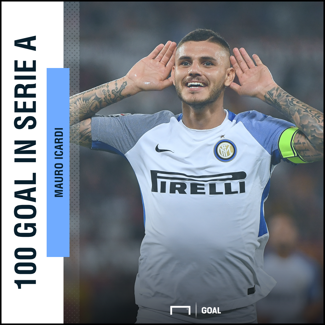 Icardi 100° goal in A PS ita