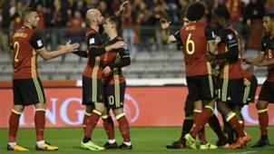 Belgium celebrating Belgium Cyprus