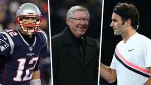 Tom Brady Alex Ferguson Roger Federer