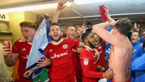 Accrington Stanley League One promotion celebrations