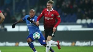 Felix Klaus, Nigel de Jong, Hannover 96 - Mainz, Bundesliga 01132018