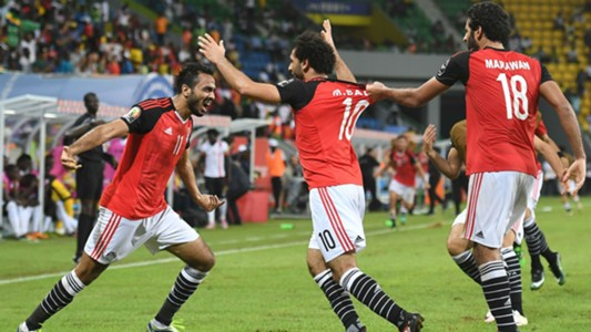 Image result for Liverpool forward Salah bags brace to send Egypt to first World Cup since 1990