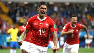 Steven Zuber Switzerland Brazil World Cup 2018