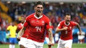 Steven Zuber Switzerland Brazil World Cup 2018