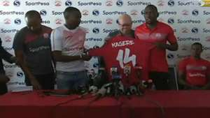 Meddie Kagere unveiled by Simba.