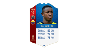 FIFA 18 World Cup CONMEBOL Ratings Murillo
