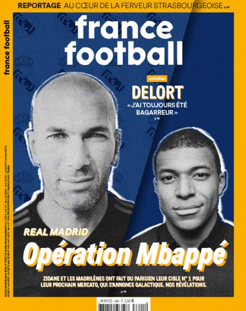 Zidane y Mbappé, portada de France Football.