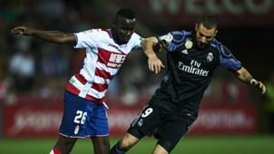 Karim Benzema Victorien Angban Real Madrid Granada LaLiga 06052017