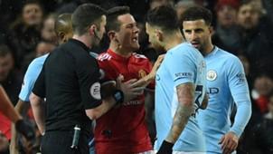 Ander Herrera, Nicolas Otamendi, Manchester United vs Manchester City, 17/18