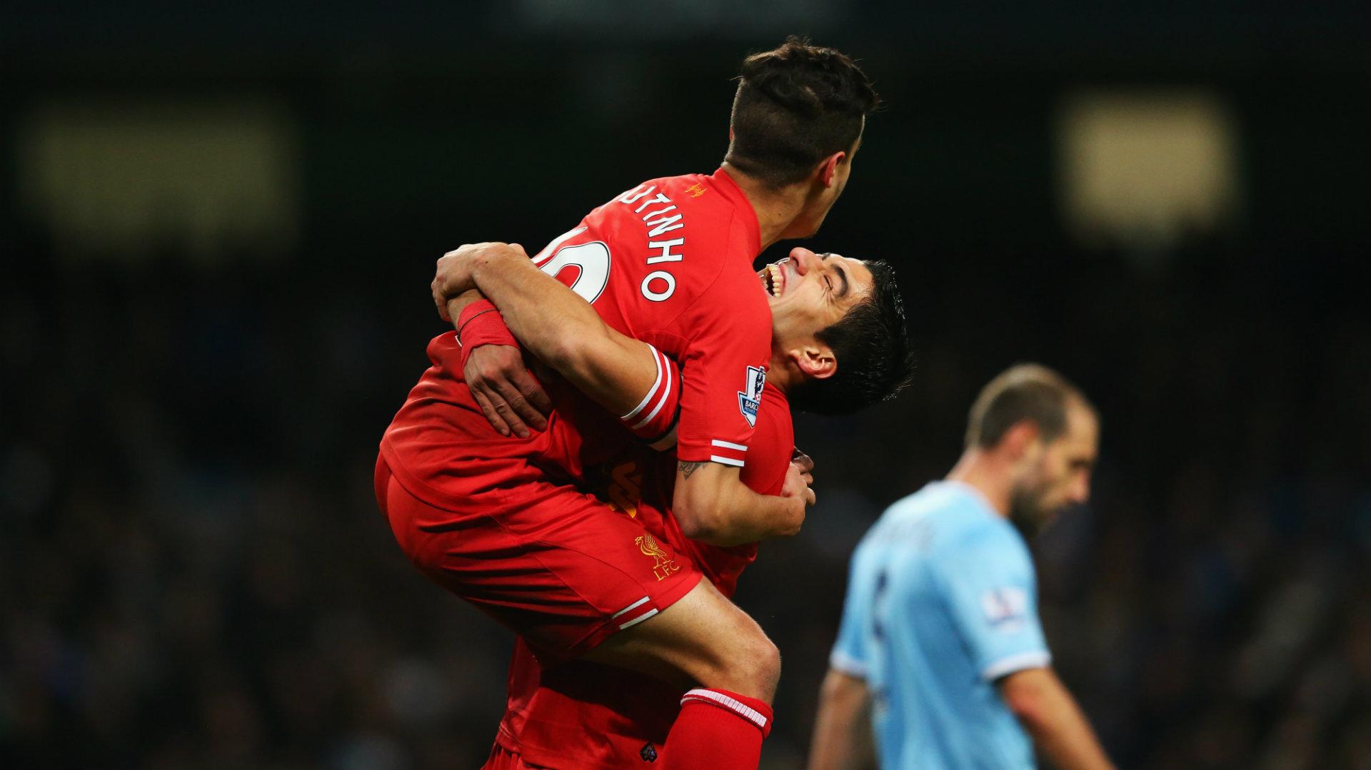 Philippe Coutinho, Luis Suarez, Liverpool
