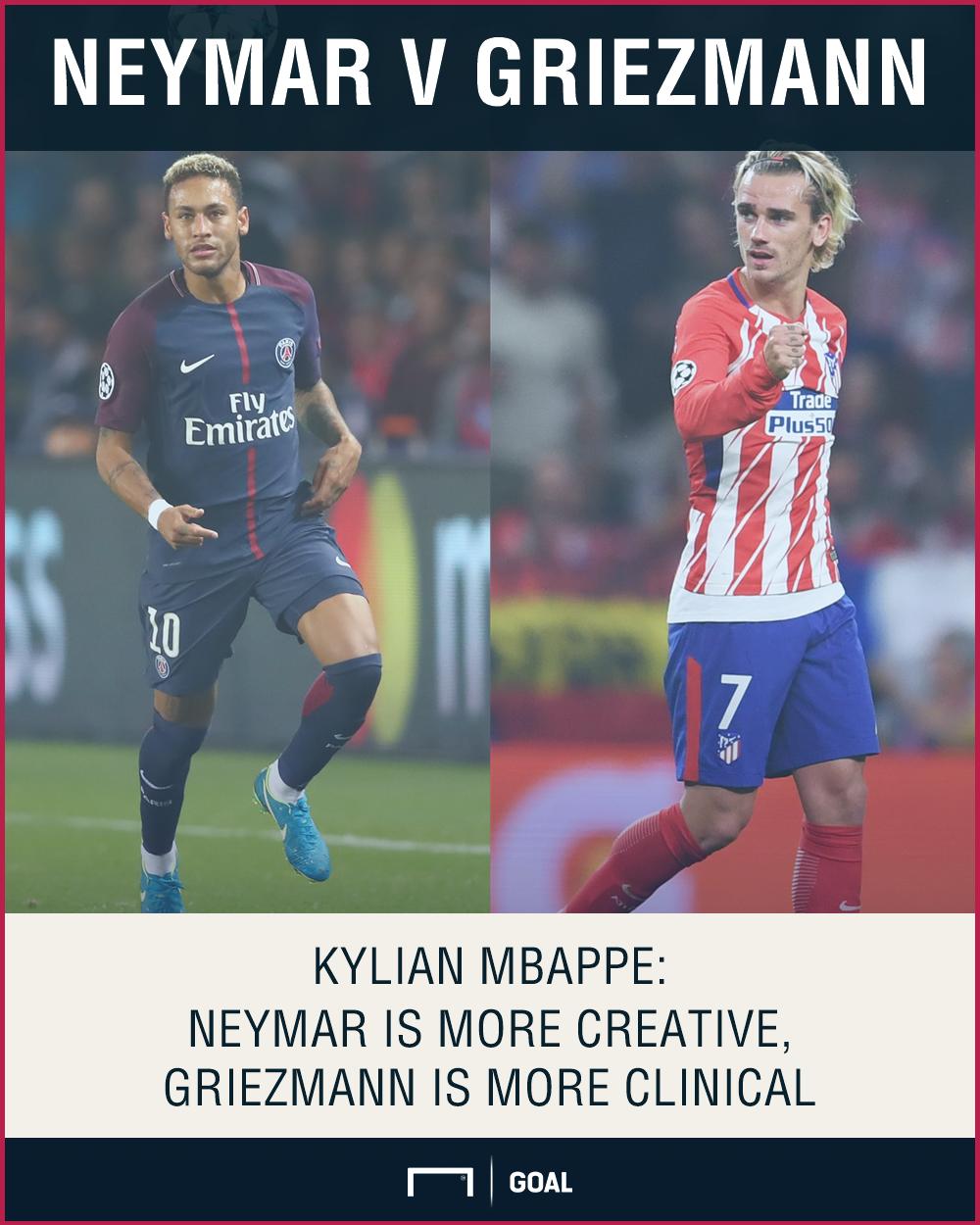 Kylian Mbappe Neymar Antoine Griezmann qualities