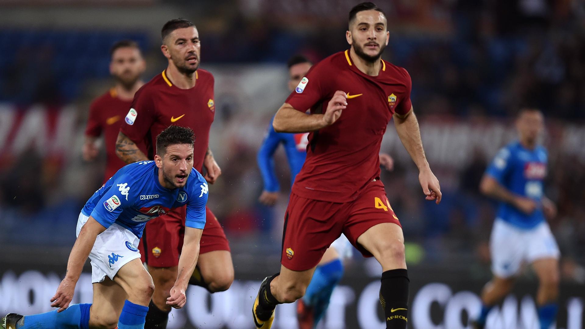Kostas Manolas Dries Mertens Roma Napoli Serie A