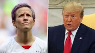 Megan Rapinoe, Donald Trump split