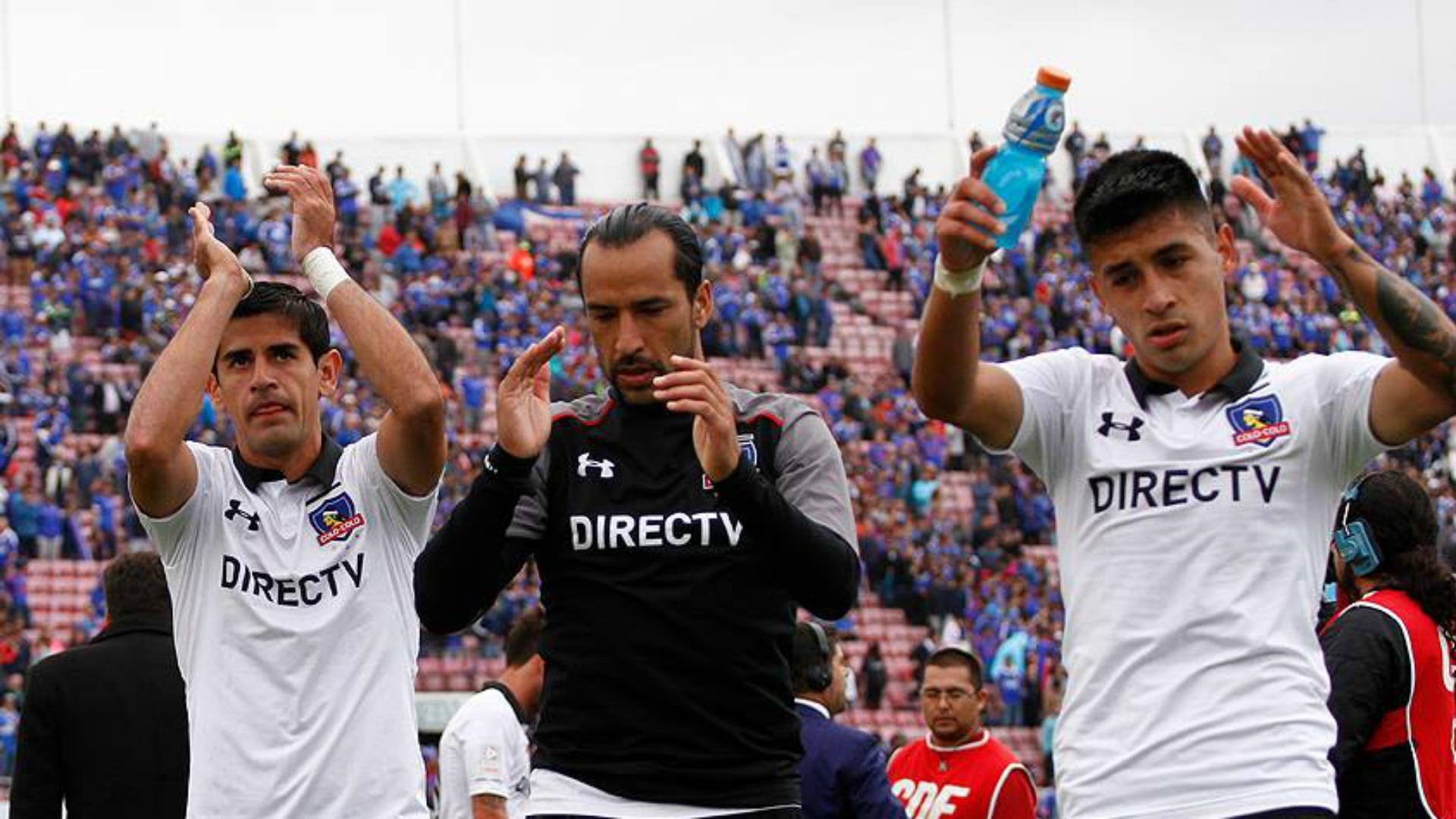 Julio Barroso, Luis Pedro Figueroa y Claudio Baeza Colo Colo 080417