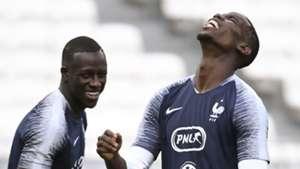 Benjamin Mendy, Paul Pogba, France training
