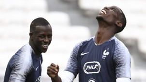 Benjamin Mendy, Paul Pogba, France training