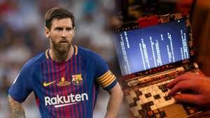 Messi hacker split