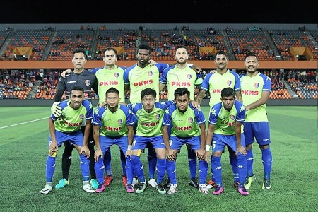 PKNS first eleven against Felda United 21/1/2017