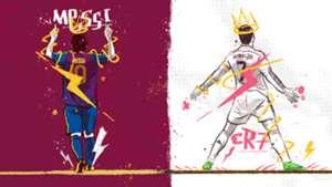 Lionel Messi Cristiano Ronaldo GFX