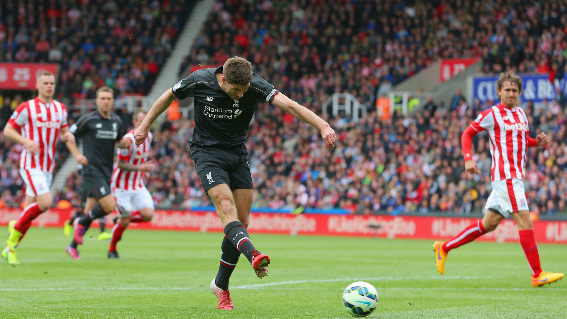 Steven Gerrard Liverpool Stoke Premier League