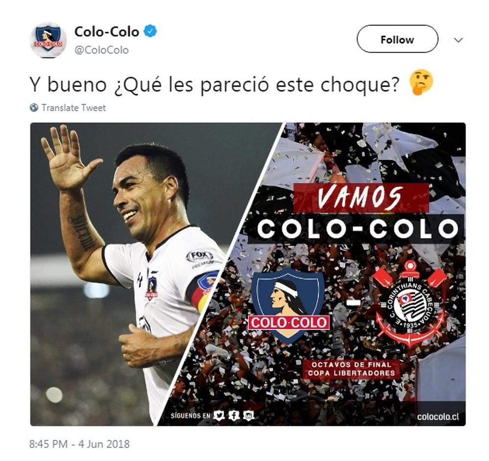 BODY ONLY Corinthians Cabeçuda Colo-Colo Libertadores