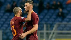 Edin Dzeko Bruno Peres Roma Empoli Serie A