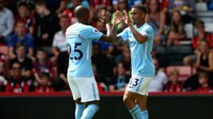 Gabriel Jesus, Fernandinho, Manchester City 2017/18