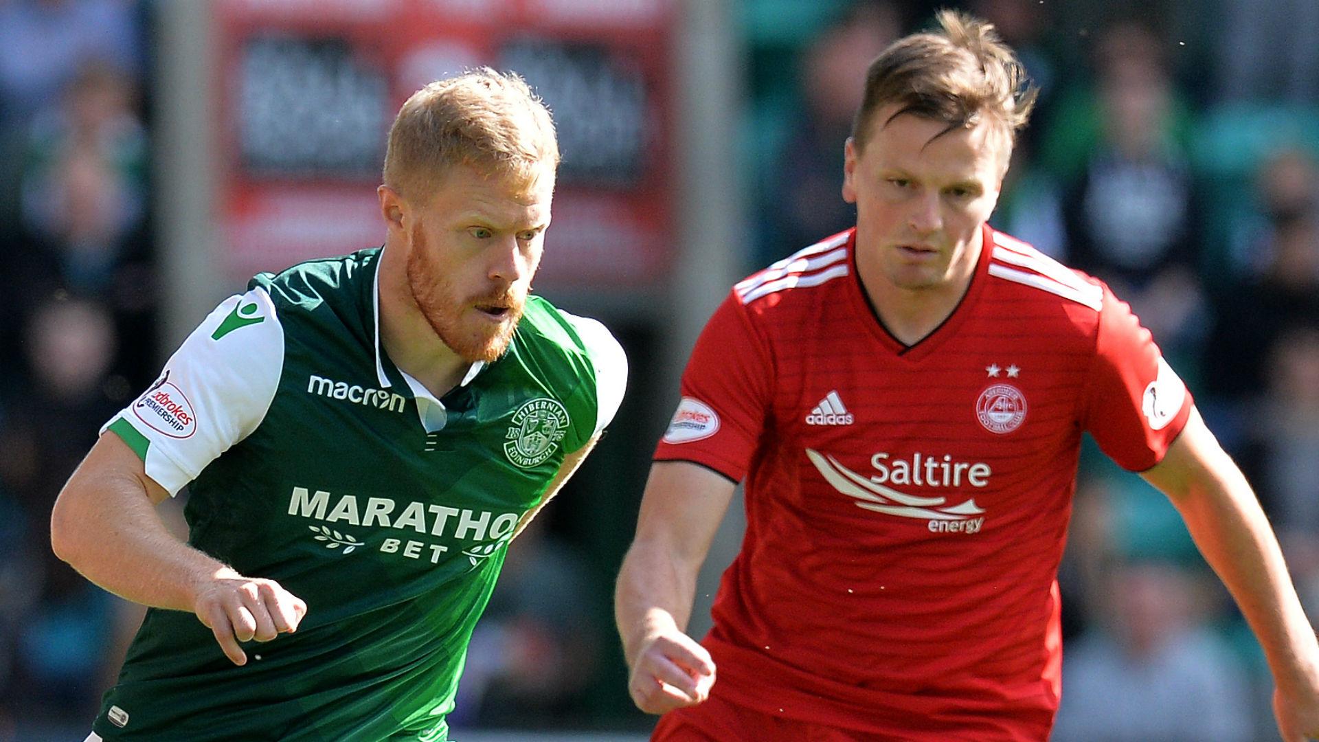 Daryl Horgan Hibernian Stephen Gleeson Aberdeen 2018-19