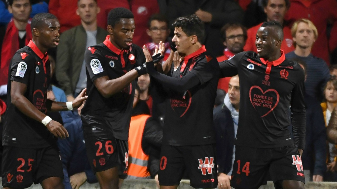 Youcef Atal scores as Nice edge past nine-man Nimes