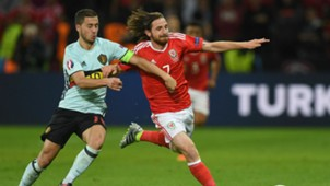 Joe Allen Euro 2016 Wales v Belgium