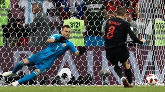 Mateo Kovacic Igor Akinfeev Russia Croatia