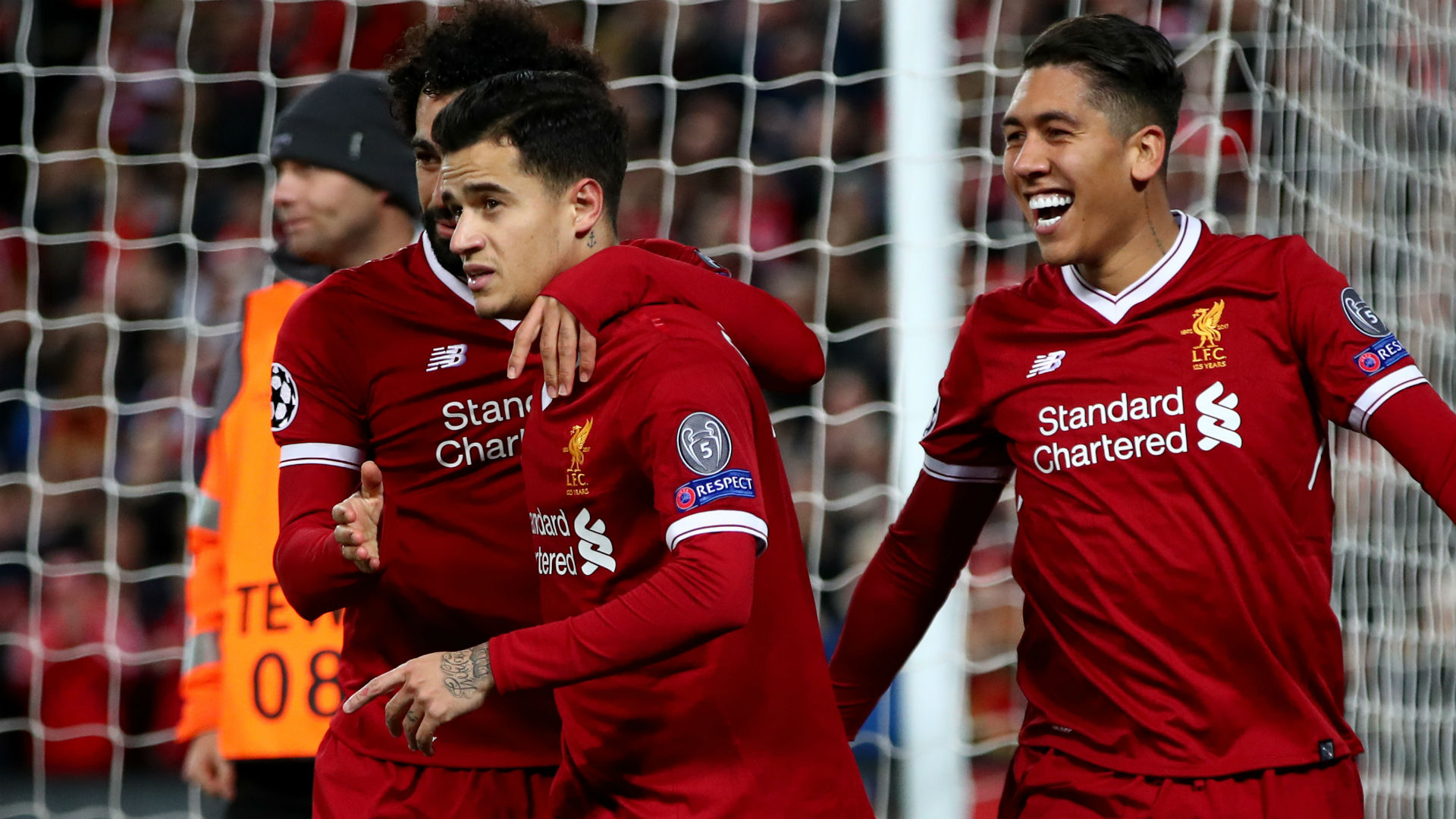 Philippe Coutinho Robert Firmino Mohamed Salah Liverpool