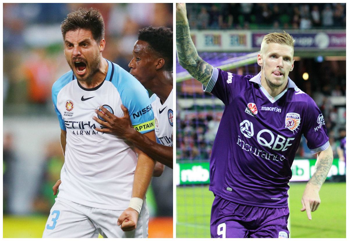 Bruno Fornaroli Melbourne City Andy Keogh Perth Glory A-League