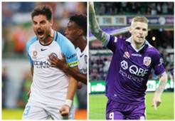 Bruno Fornaroli Melbourne City Andy Keogh Perth Glory A-League