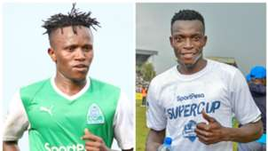 Gor Mahia duo of Francis Kahata and Philemon Otieno.