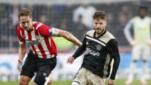 Luuk de Jong, Lasse Schöne, PSV - Ajax, 09232018