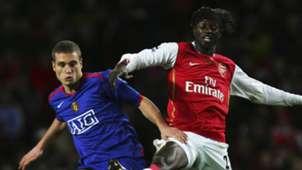 Nemanja Vidic Emmanuel Adebayor Manchester United Arsenal