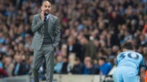 Pep Guardiola Nicolas Otamendi Manchester City