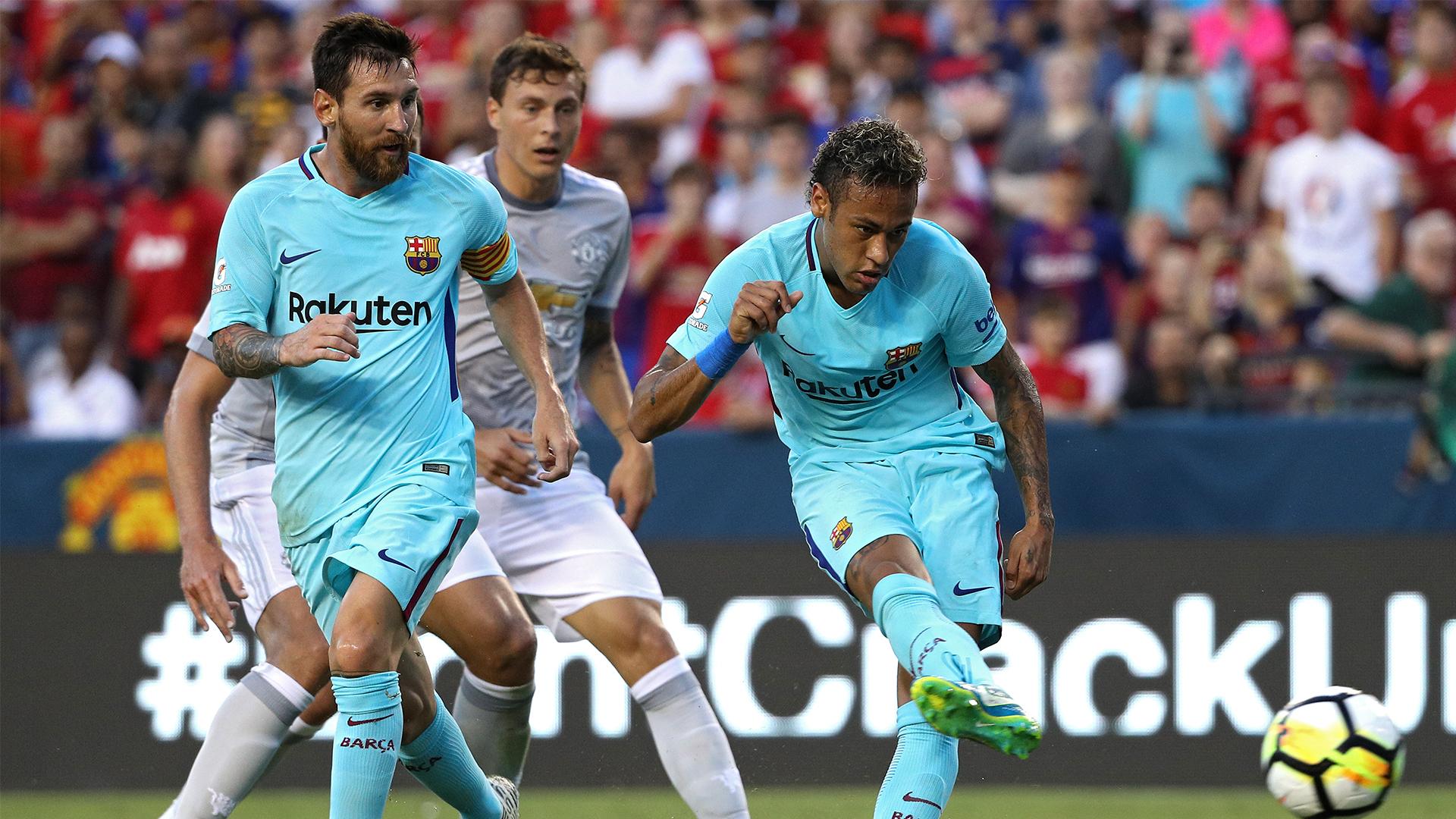 Neymar Lionel Messi Victor Lindelof International Champions Cup