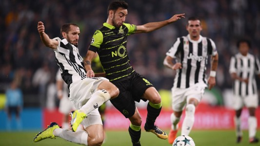 Chiellini Bruno Fernandes Juventus Sporting Champions League