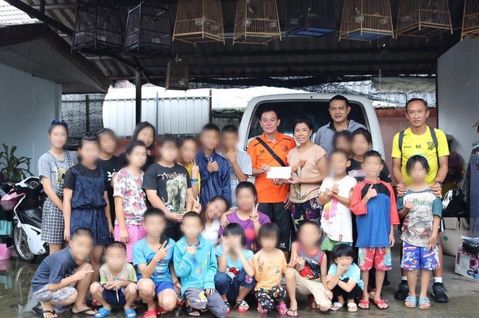 Image result for พีทีประจวบมอบเงินช่วยเหลือบ้านอากาเป้