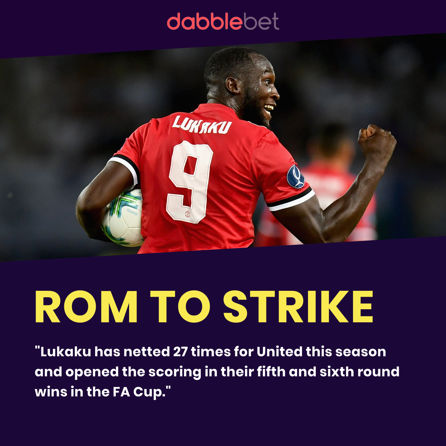 Lukaku FA Cup Boost graphic