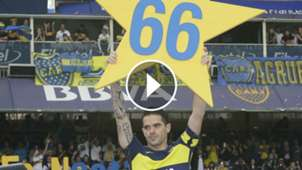 VIDEO PLAY Fernando GAGO estrella 66 festejo Boca Union Torneo Primera Division 25062017