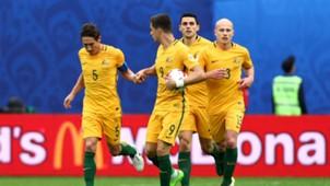 Australia celebrates Cameroon Confederations Cup