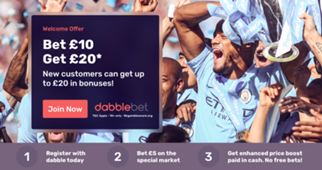 dabblebet offer HP slot