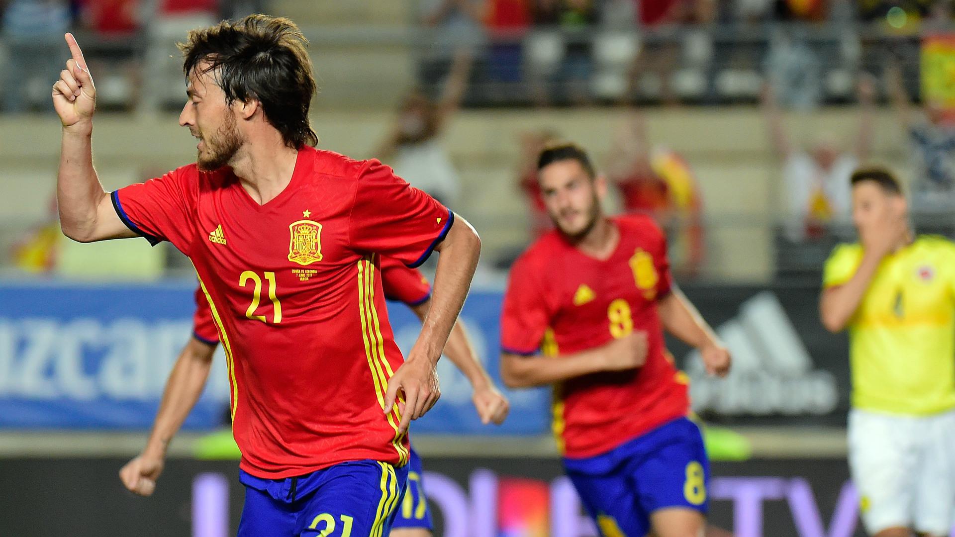David Silva Spain Colombia Friendly 07062017