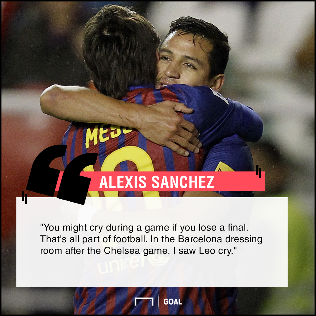 Alexis Sanchez quote Messi