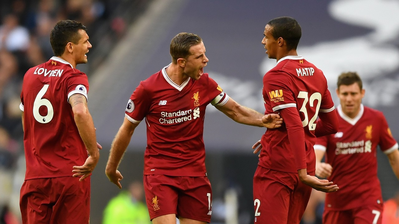 Jordan Henderson Dejan Lovren Joel Matip Liverpool