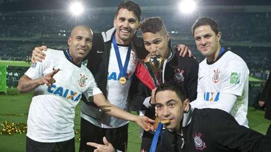 Emerson Sheik, Paulo André, Guerrero, Martínez e Chicão - Corinthians - Mundial 2012 - 16/12/2012