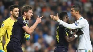 Jan Vertonghen Cristiano Ronaldo Tottenham Real Madrid 17102017